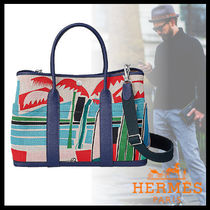 HERMES Garden Party Unisex Street Style Leather Totes
