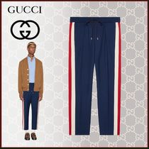 GUCCI Stripes Unisex Wool Blended Fabrics Street Style Plain