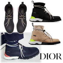 DIOR HOMME Mountain Boots Unisex Suede Blended Fabrics Street Style