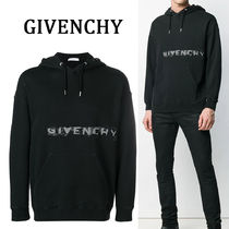 GIVENCHY Pullovers Street Style Long Sleeves Plain Cotton Hoodies