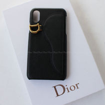 Christian Dior LADY DIOR Leather iPhone X iPhone XS Smart Phone Cases