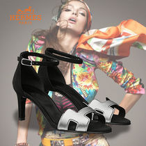 HERMES Leather Elegant Style Sandals