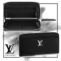 Louis Vuitton LOCKME Unisex Plain Leather Long Wallets