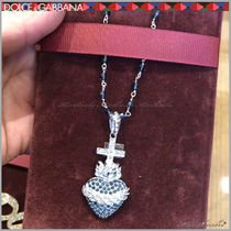 Dolce & Gabbana Heart Chain Silver With Jewels Necklaces & Chokers