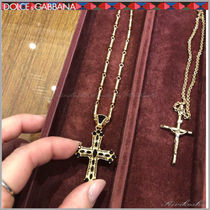 Dolce & Gabbana Chain Metal With Jewels Necklaces & Chokers