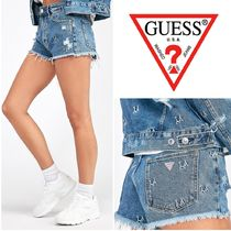 Guess Short Street Style Cotton Denim & Cotton Shorts
