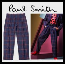Paul Smith Printed Pants Other Check Patterns Wool Patterned Pants