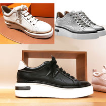 HERMES Leather Low-Top Sneakers