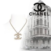 CHANEL Unisex Blended Fabrics Chain Metal Necklaces & Chokers