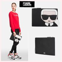 Karl Lagerfeld Casual Style Faux Fur 2WAY Plain Clutches