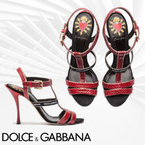 Dolce & Gabbana Casual Style Other Animal Patterns Pin Heels Heeled Sandals