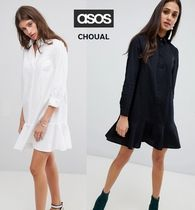 ASOS Short Casual Style Street Style Plain Cotton Dresses