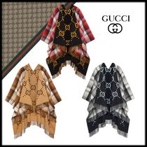 GUCCI Unisex Wool Long Oversized Ponchos & Capes