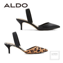 ALDO Leopard Patterns Plain Leather Oversized Elegant Style