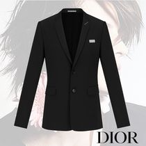 DIOR HOMME Short Wool Plain Home Party Ideas Blazers Jackets