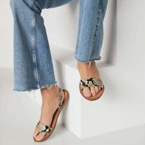 ALDO Open Toe Casual Style Plain Leather Python Oversized Sandals