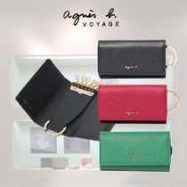 Agnes b Plain Leather Keychains & Bag Charms