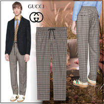 GUCCI Other Check Patterns Unisex Wool Cropped Pants