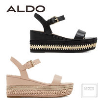 ALDO Open Toe Faux Fur Plain Oversized Elegant Style