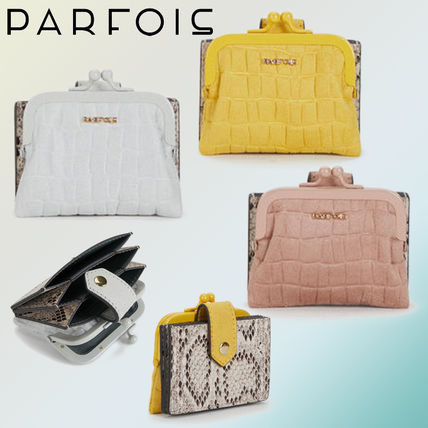 Faux Fur Blended Fabrics Python Coin Purses