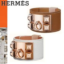 HERMES Collier de Chien Studded Leather Elegant Style Bracelets