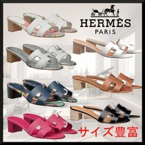 HERMES Open Toe Leather Sandals