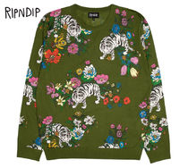 RIPNDIP Flower Patterns Street Style Long Sleeves Knits & Sweaters