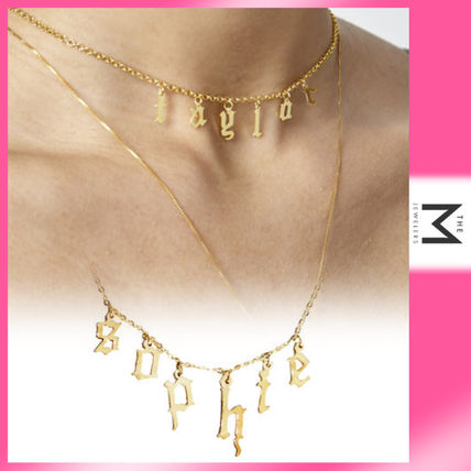 Casual Style Initial Street Style Chain Silver