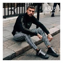 ASOS Stripes Other Check Patterns Street Style Skinny Fit Pants