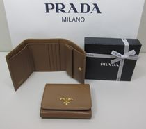 PRADA Saffiano Folding Wallets