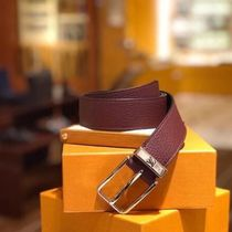 Louis Vuitton TAURILLON Blended Fabrics Street Style Plain Leather Belts