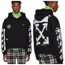 Off-White Pullovers Unisex Street Style Cotton Oversized Hoodies