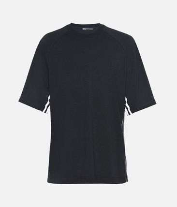 Y-3 More T-Shirts Street Style Plain Cotton Short Sleeves T-Shirts 2