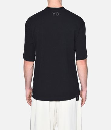 Y-3 More T-Shirts Street Style Plain Cotton Short Sleeves T-Shirts 4