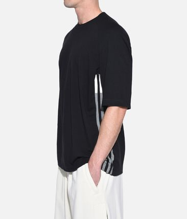 Y-3 More T-Shirts Street Style Plain Cotton Short Sleeves T-Shirts 5