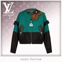 Louis Vuitton Monogram Casual Style Unisex Leather Jackets