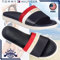 Tommy Hilfiger Stripes Open Toe Casual Style Flip Flops Flat Sandals