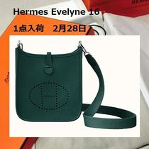 HERMES Evelyne Leather Handmade Elegant Style Shoulder Bags