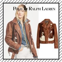 POLO RALPH LAUREN Other Animal Patterns Leather Biker Jackets