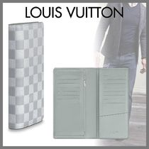 Louis Vuitton DAMIER INFINI Other Check Patterns Blended Fabrics Street Style Bi-color