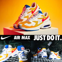Nike AIR MAX Faux Fur Street Style Plain Sneakers