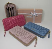 MiuMiu MATELASSE Lambskin Long Wallets
