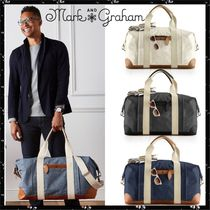 marc AND graham Unisex Canvas Blended Fabrics Plain Boston Bags