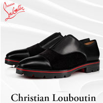 Christian Louboutin Loafers Blended Fabrics Plain Leather Loafers & Slip-ons
