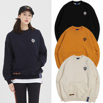ROMANTIC CROWN Cable Knit Unisex Street Style Long Sleeves Oversized