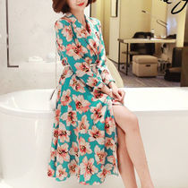Flower Patterns Casual Style Long Coats