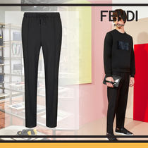 FENDI Tapered Pants Wool Plain Tapered Pants