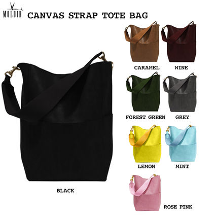 Studded Street Style Plain Office Style Totes