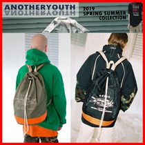 ANOTHERYOUTH Casual Style Unisex Street Style Backpacks