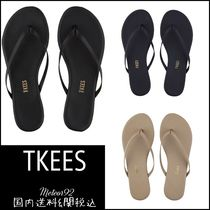 TKEES Casual Style Plain Leather Sandals